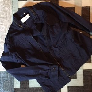 Caslon Lightweight Navy Blue Utility Jacket